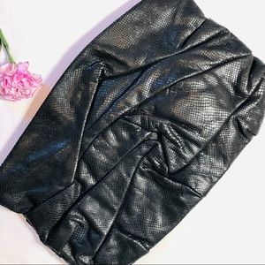 Leather Exotic Skin Oversized Clutch | Fashionable